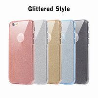 Wholesale Iphone Full Bling Cover - 360 Degree 100% Full Body Front Back Glitter Bling Shining Flexible Soft TPU Gel Transparet Clear Case Cover For iPhone 7 Plus 6 6S