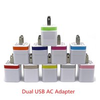 eu conecto venda por atacado-Carregadores de parede Plug EUA 5 V 2A Dual USB Power Adapter 2 Port Carregador Adaptador para i Phone 6 5s pad air para Samsung