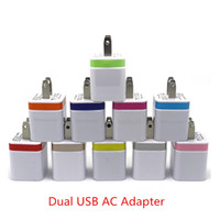 ich komme ladegerät adapter großhandel-Ladegeräte US Stecker 5V 2A Dual USB Power Adapter 2 Port Ladegerät Adapter für i Phone 6 5s Pad Air für Samsung