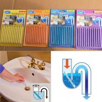 Wholesale Wholesale Toilet Cleaner - Sani Stick Conduit Bathtub Sewer Decontamination Sticks Cleaning Keep Your Drain Pipes Toilet Bathtub Drain Cleaner Sewer Rod WX-C08