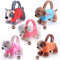 Wholesale Handbag Kids - Wholesale-Plush Bags for Kids Stuffed Animal Toys Bags Handbag for Girls Kids Gifts Dogs Bags 3D bags for Children
