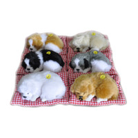 Wholesale plush 12 - Simulation Animal Stuffed Plush Cute Sleeping Dogs Toy with Sound Kids Stuffed Toy Simulation Dogs OOA3662