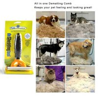 Wholesale Deshedding Tool Dog - Pet Brush Dog Cat Comb Hair Removal Long Hair Short Hair Dog Grooming Deshedding Edge Tool