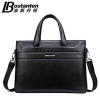 Wholesale Genuine Leather Business Bags Bostanten - Wholesale- Bostanten 100% Genuine Leather Men's Handbag Business Cross Shoulder Bags Real Leather Messenger Computer Bags