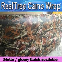 Wholesale car door stickers design resale online - 2017 Mossy oak Tree Leaf Camouflage Realtree Car Wrap TRUCK CAMO TREE PRINT DUCK graphics design size x m Roll