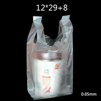 Wholesale Fast Food Shop - 50 Pcs 12x29cm 0.05mm Thickened Transparentpping PE Plastic Sho Bags   Wholesale Shopping Bag   Supermarket Fast Food Bag