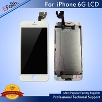 Atacado-Para iPhone 6 Completo Completo LCD branco com digitalizador Bezel Frame + Home Button + Front Camera Full Assembly Free Shiping