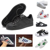 Wholesale Women Dazzling Shoes - Classic Shoes Men 's Shoes For Women' s Shoes White Shoe Laser Dazzle see Superstar Shell Head Sneakers Free Shipping