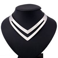 Wholesale Fake Gold Chains - Maxi Silver Plated Choker Necklace Women Jewelry Fashion Punk Iron Gypsy Bohemia Heart Sexy Hollow Fake Collar Necklace Vintage Ethnic 2017