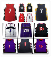 Wholesale D R L - 100% stitched Mesh #1T y #15 V e Basketball Jersey Rev 30 Men #10 D r #7 l y High quality Jerseys Embroidery Logos Free Shipping S-XXL