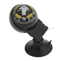 Wholesale Car Mounted Compass - Wholesale-Free Shipping Pocket Ball Dashboard Dash Mount Navigation Compass Car Boat Truck Suction Black