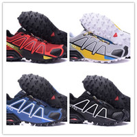 Wholesale Speed Laces - hot sale 2017 man Zapatillas Speedcross 4 ATHLETIC Shoes new Walking Speed cross shoes size 40-46 free shipping