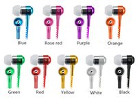 Wholesale pc microphone jack - Zipper Earphones Headset 3.5MM Jack Bass Earbuds In-Ear Zip Earphone Headphone with MIC for Iphone 5 6 Plus Samsung S6 android phone mp3 pc
