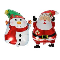 Wholesale Aluminum Christmas Tree Wholesale - Father Christmas And Tree Balloon Aluminum Foil Balloons Party Decoration Balloons Celebration Supplies christmas decorations Drop Shipping