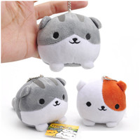 juguetes para patio trasero al por mayor-Neko Atsume Cat Mini Plush Dolls Backyard Cat Stuffed Soft Toys Colgantes del regalo de los niños Llavero (10pcs / Lot / Size: 8cm)