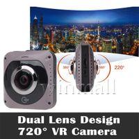 Wholesale Fishing Roller - GV720B 360 Camera Dual Fish eye Lens VR Panoramic Camera 220 Degree Wide Angle 1088x2048 px Sport DV