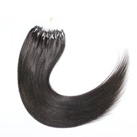 "Wholesale Micro Loop Indian Virgin - 10""-26"" 1.0g s 100s Grade 7A Indian Loop Micro Ring Human Hair Extensions 100%Remy Virgin Hair Straight Dark color 100g MoonBay Hair"