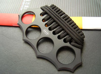 nudillos de latón edc al por mayor-Alta calidad AZAN nudillos de bronce nudillos dusters, cuatro dedos de hierro, acero integrado que forma las herramientas EDC envío gratis
