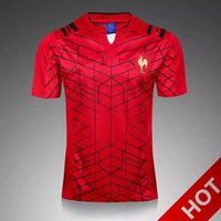Wholesale Men Dress Shirt Red Xxl - 2017 French Rugby Jerseys shirt Size S-3XL house olive dress 17-18 French olive suit wearing red jersey