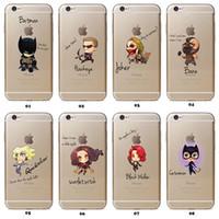 Wholesale Bat Case Iphone - Cartoon Batman for iphone6 cases Bat ManSuper Man America Capatain phone case hard Back cover Skin for apple iphone 5  5s 6 7s 7 plus case