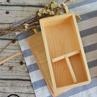 Wholesale Natural Wooden Japanese Lunch Boxs with Insulation Handmade Wood Sushi Bento Box for Adults and Kids