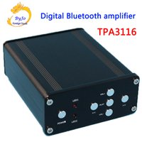 Wholesale Amp Enclosure - YJ HIFI Audio Amplifier Class 2.0 Audio Stereo Digital Power Amplifier TPA3116 Power 2*50W Mini Home Aluminum Enclosure Amp