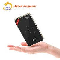 Wholesale Hdmi Pocket Proyector - H96-P Android wifi projector 3D 2G 16G S905 HDMI Mini Portable pocket projector DLP proyector Home theater projector 4K All in one 32G SD
