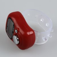 Atacado- FSLH-Mini LCD Electronic Digital Display Finger Hand Tally Counter Counting Red