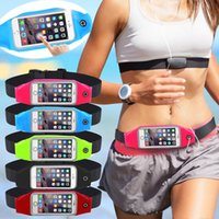 Wholesale Iphone Accessories Running - Universal Waterproof Sport GYM Waist Bag Phone Case for iPhone 7 6 6S Plus SE 5G 5C 4G Outdoor Workout Running Pouch Accessories