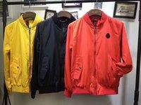 Wholesale Thin Overcoat - m1742 Brand 2017 Spring Fall men's sports jacket jacket Men casual Thin Windbreaker Zipper sportwear Fashion autumn overcoat PLUS M-XXXL