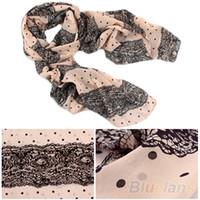 Wholesale soft scarves for sale for sale - NEW Stylish Girl Long Soft Silk Chiffon Scarf Stripe Polka Dot Shawl Scarve For Women Hot Sale L9