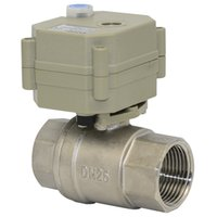 Wholesale 2 Ways DN25 AC DC V V SS304 ball valve thermo electric valve with indicator with manual operation