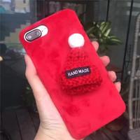 apfelhüte großhandel-Korea-reizender Wollhut für iPhoneXR XS MAX Telefonoberteil Apple iPhone6 / 6s Plüschtuchschutz-Gezeitenfrau