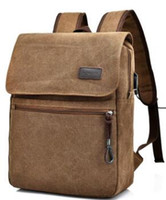 Wholesale canvas laptop bags for men - Brand Canvas Men Backpack College High Middle School Bags For Teenager Boy Girls Laptop Travel Backpacks backpack Leisure computer bag