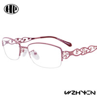 Female special eye glasses - 2017 Retro Luxury Women Glasses Frame Clear Lens Oculos Alloy Lady Eye Glasses Floral Optical Frames Vintage Female Eyewear Special design