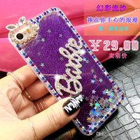 Wholesale Hard Lens Cases - Cute Fashion Diamond Rabbit Ear Lens Star Quicksand Liquid Glitter rhinestone bling phone case hard shell for Iphone 6 6s