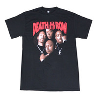Wholesale Row Shirt - Death Row Records Tupac Dre Poster Men's Black Cotton T-Shirt Men 2017 Summer Fashion New Spring and summer printing Cheap sold