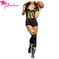 Wholesale Belle Adult Costume - Cosplay Sport Bodysuits Costume Set for Adult Sexy Belle Club Football Costume With Stocking LC8964 17410