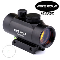 Wholesale Dot Bubble - FIRE WOLF 1X40 Red Dot Sight Riflescope 11 20mm Rail Mount for Rifle with Bubble Level