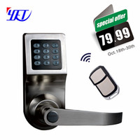 Wholesale Electric Lock Remote Control - Wholesale- Free Shipping ! New alloy electric smart code door lock with remote control and passpord