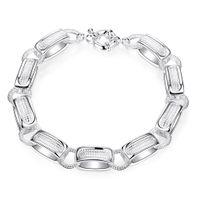 Wholesale Plated Spring Ring Clasp - Free shipping Wholesale 925 Sterling silver plated Spring-ring-clasps charm bracelets LKNSPCH416