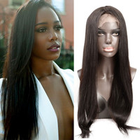 Straight Brazilian Hair Glueless Full Lace Wigs para mulheres negras 10-24inch Natural Color Front Lace Long Perucas Cabelo humano Bellahair 130% 150%