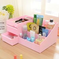 Wholesale Desktop Drawers - 2016 High Quality Drawer Cosmetics Storage Box Large Desktop Storage Plastic Box 35CM*22CM W1124