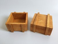 square wooden planter - Cute Wood Box Succulent Planter Square Sharp wooden Flower pot Mini Pot for Cactus Small Plant