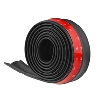 Wholesale Strip Skirt - sticker 2.5M   8.2ft Universal Sticker Lip Skirt Protector Front Lip Bumper Car Rubber Strip 60mm Width For Any