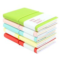 Wholesale Diary Book Case - Pocket Super Mini Smiley Diary Notebooks Memo Note Book 5x3 Inch PU Leather Case Color Random