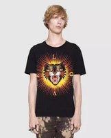 Wholesale Leopard Print Tshirts - Life Style Italian NEW Cotton T-shirts Leopard Print Men Short Sleeve Herren LOVE Summer male Tops Tees Casual Tshirts M-3XL