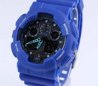 Wholesale Boys Lighting Watch - luxury brand Boys and girls watch watches men G All pointer work GA110 Men sports watches LED light watch famous digital shock watches @333