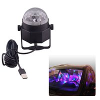 Wholesale Car Led Lights Wholesale Usa - Mini Disco Ball Lights Led Car decoration Lighting with USB Cable for KTV Disco Club Pub Party Wedding Show Decoration