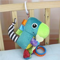 Wholesale Dinosaur Beds - Wholesale- The Dinosaur Car Hanging Bed Bell Infants Plush Toy With BB&Rubber Ring Newborn Baby Teddy Kids Toy Baby Early Educational Toys